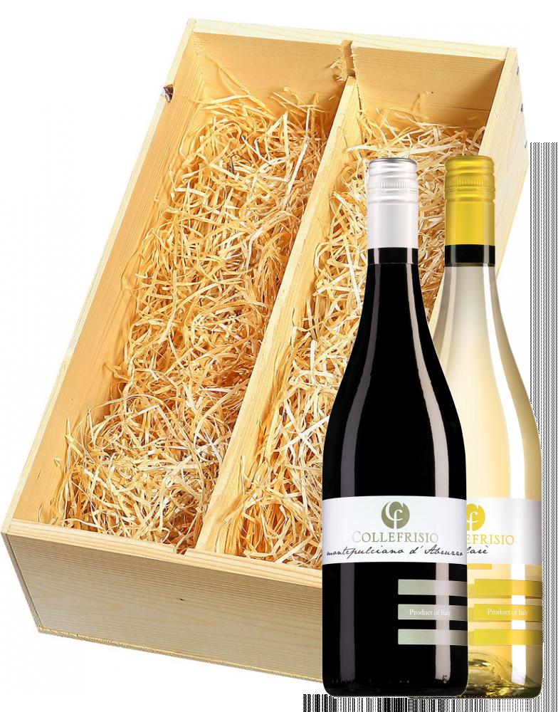 Wijnkist met Collefrisio Trebbiano d'Abruzzo Filarè & Montepulciano d'Abruzzo