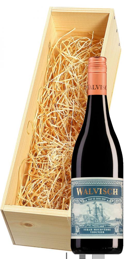 Wijnkist met DeMorgenzon Stellenbosch Walvisch Syrah-Mourvèdre-Viognier