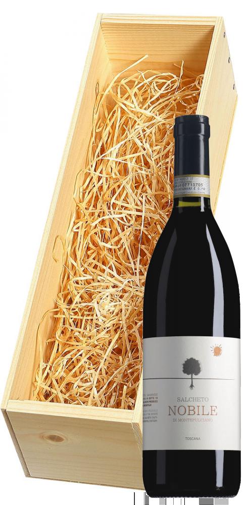 Wijnkist met Salcheto Vino Nobile di Montepulciano