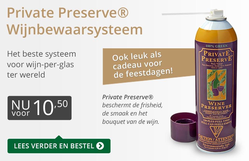 Private Preserve Wijnbewaarsysteem (10,50) - grijs/goud