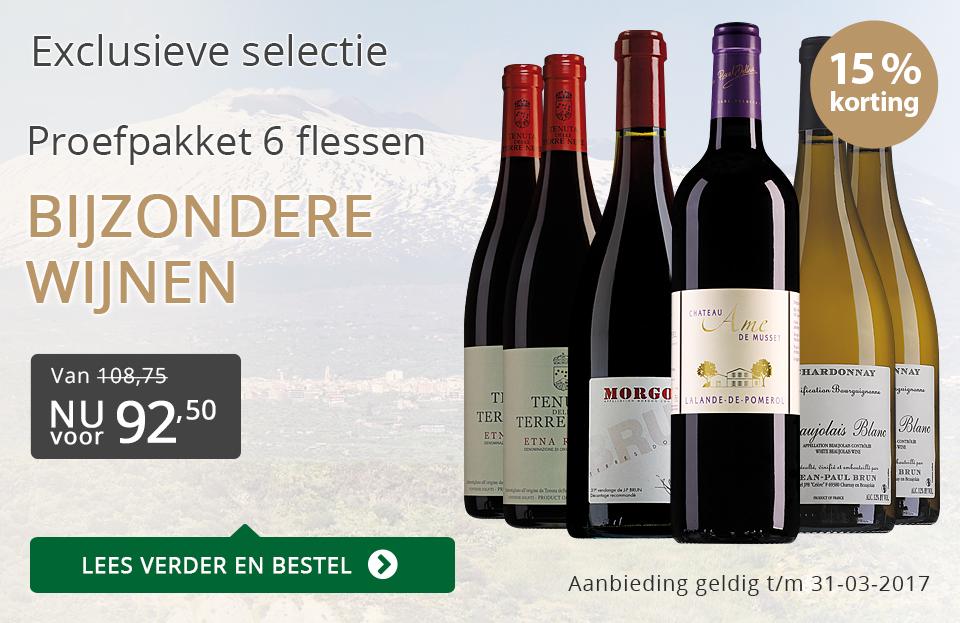 Proefpakket bijzondere wijnen maart 2017 (92,50) - grijs/goud