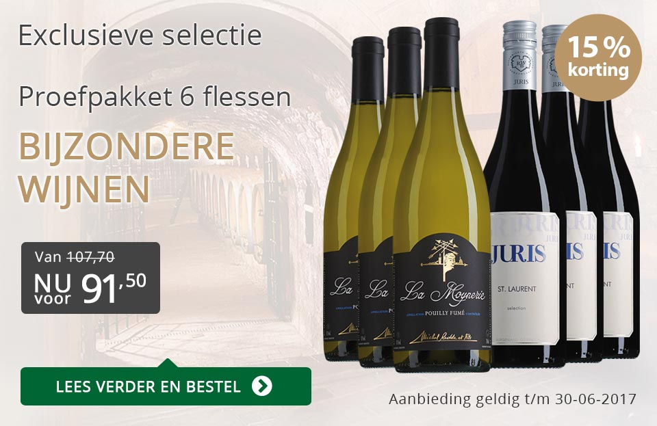 Proefpakket bijzondere wijnen juni (91,50) - grijs/goud