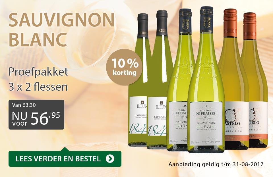 Proefpakket Sauvignon Blanc - grijs/goud