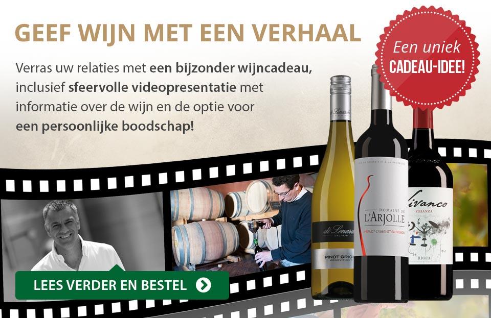 Geef wijn met een verhaal - grijs/goud