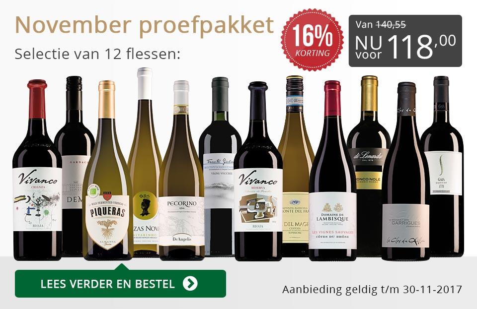 Proefpakket wijnbericht november 2017 (118,00) - grijs/goud