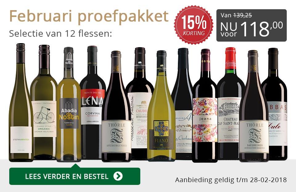 Proefpakket wijnbericht februari 2018 (118,00) - grijs/goud