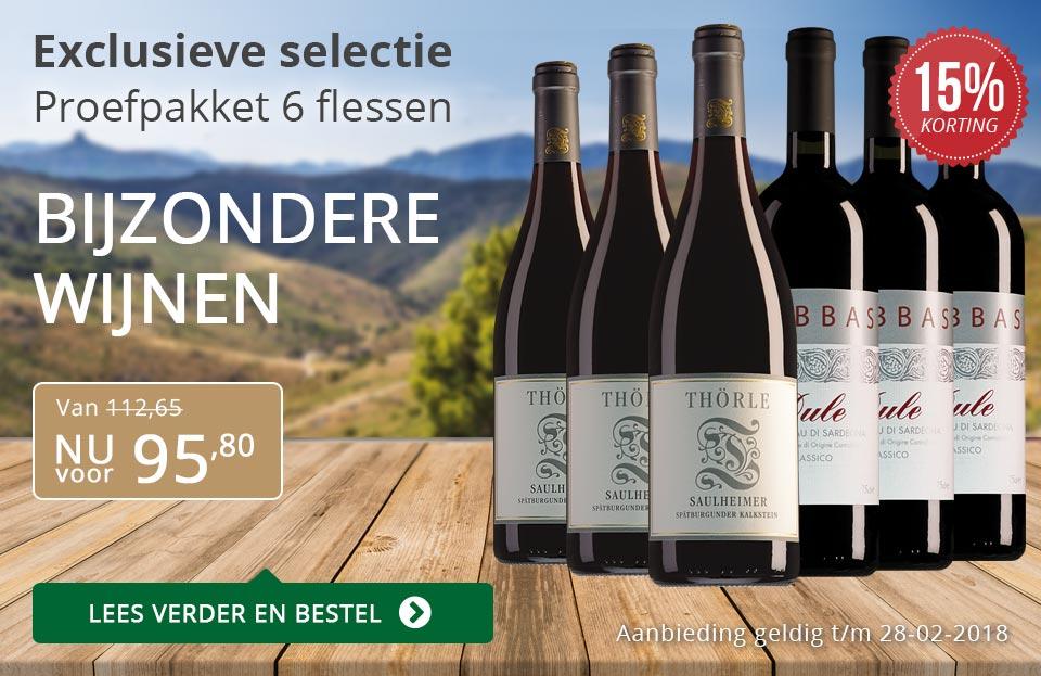 Proefpakket bijzondere wijnen februari 2018 (95,80) - grijs/goud