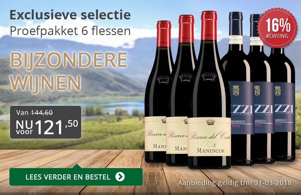 Proefpakket bijzondere wijnen maart 2018 (121,50) - grijs/goud