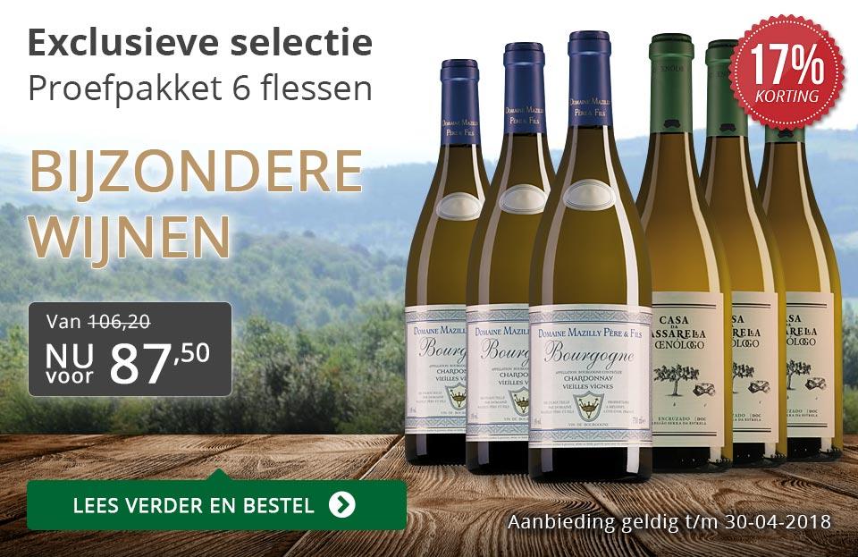 Proefpakket bijzondere wijnen april 2018 (87,50) - grijs/goud