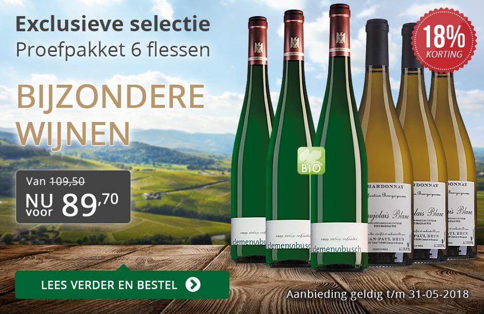 Proefpakket bijzondere wijnen mei 2018 (89,70) - grijs/goud