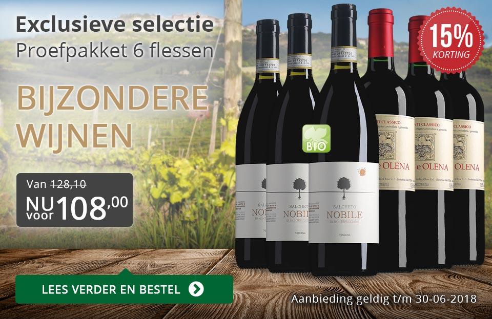 Proefpakket bijzondere wijnen juni 2018 (108,00) - grijs/goud