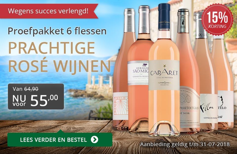 Proefpakket prachtige rosé wijnen (55,00) verlengd - grijs/goud