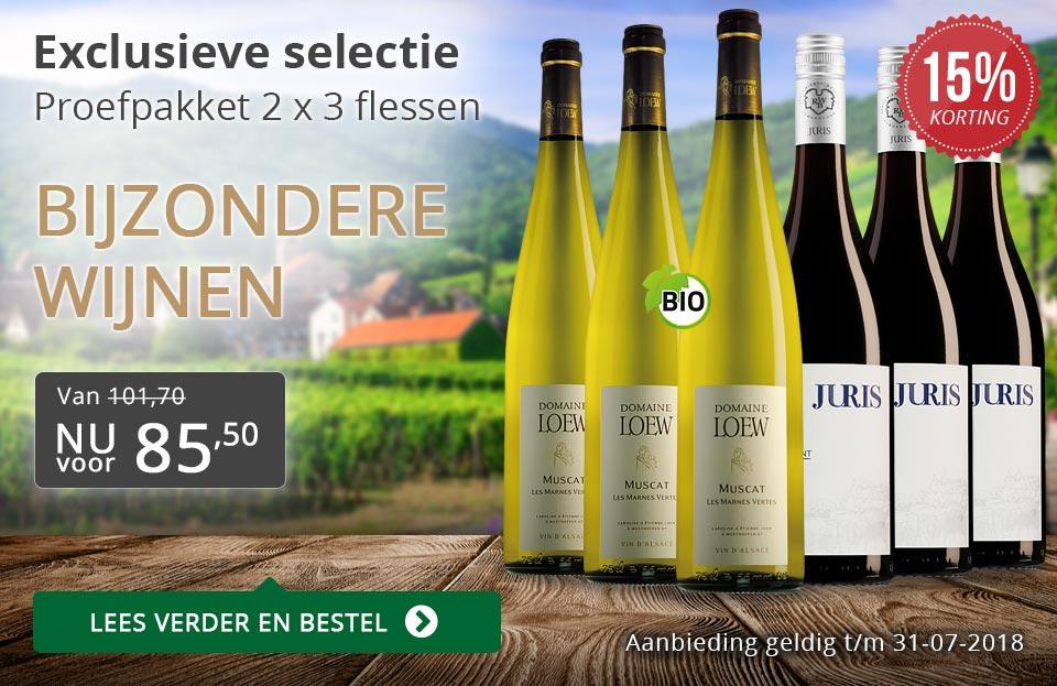 Proefpakket bijzondere wijnen juli 2018 (108,00) - grijs/goud