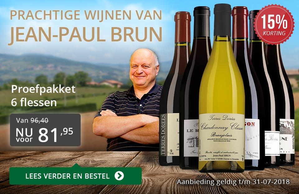 Jean-Paul Brun prachtige wijnen (81,95) - grijs/goud