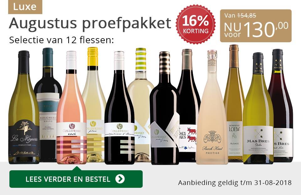 Proefpakket luxe wijnbericht augustus 2018 (130,00) - grijs/goud