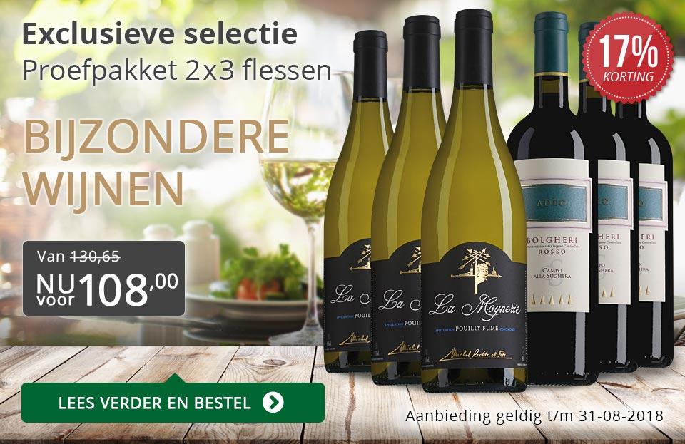 Proefpakket bijzondere wijnen augustus 2018 (108,00) - grijs/goud