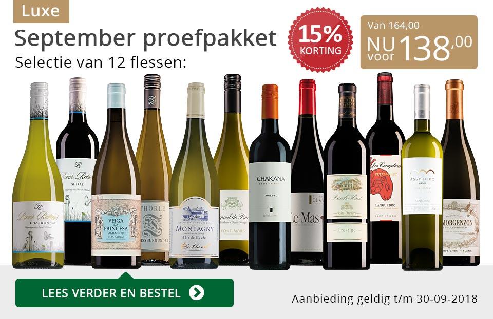Proefpakket luxe wijnbericht september 2018 (138,00) - grijs/goud