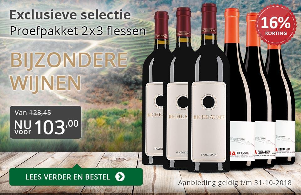 Proefpakket bijzondere wijnen oktober 2018 (103,00) - grijs/goud