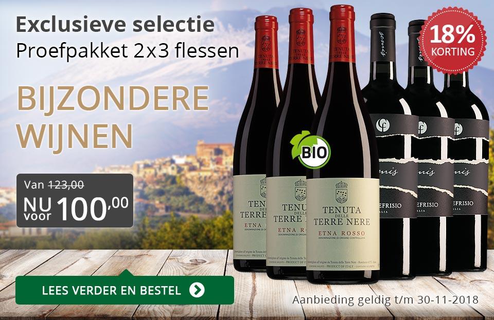 Proefpakket bijzondere wijnen november 2018 (100,00) - grijs/goud