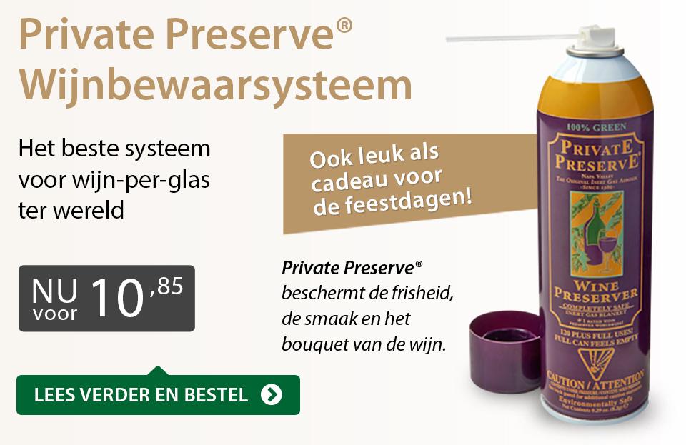 Private Preserve Wijnbewaarsysteem (10,85) - grijs/goud