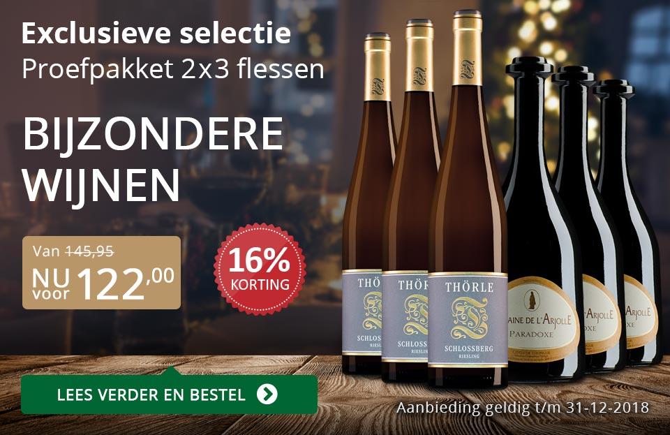 Proefpakket bijzondere wijnen december 2018 (122,00) - grijs/goud