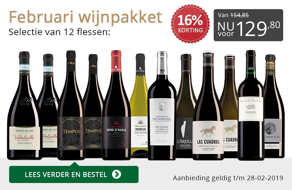 Wijnpakket Wijnbericht februari (12 flessen)