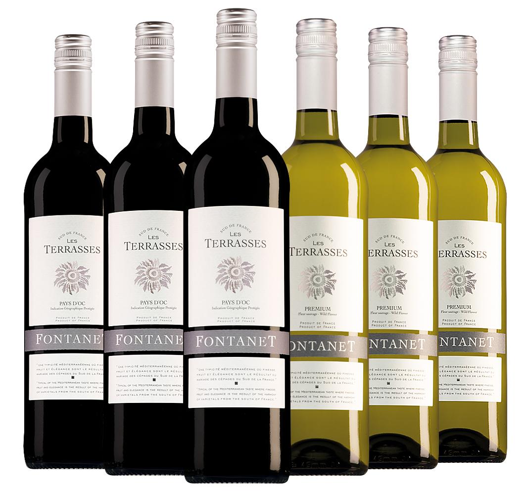 Wijnpakket Fontanet (2x3 flessen)