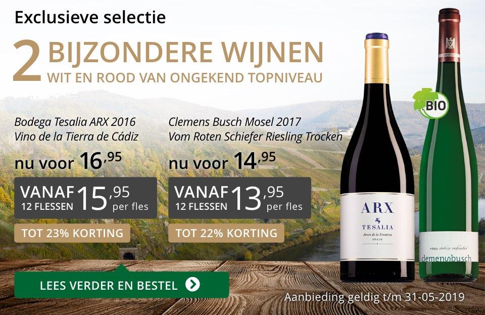 Twee bijzondere wijnen mei 2019- grijs/goud