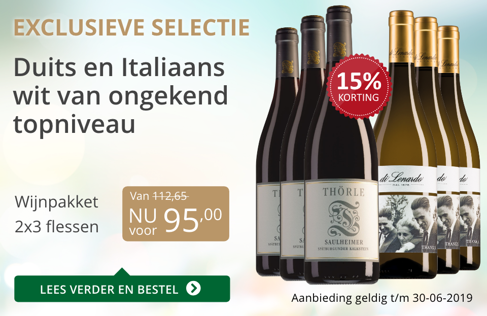 Wijnpakket bijzondere wijnen juni 2019 (95,00) - grijs/goud