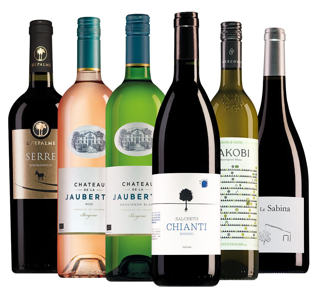 Wijnpakket barbecuewijnen (6 flessen)