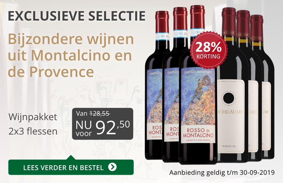 Wijnpakket bijzondere wijnen september 2019 (92,50)- grijs/goud