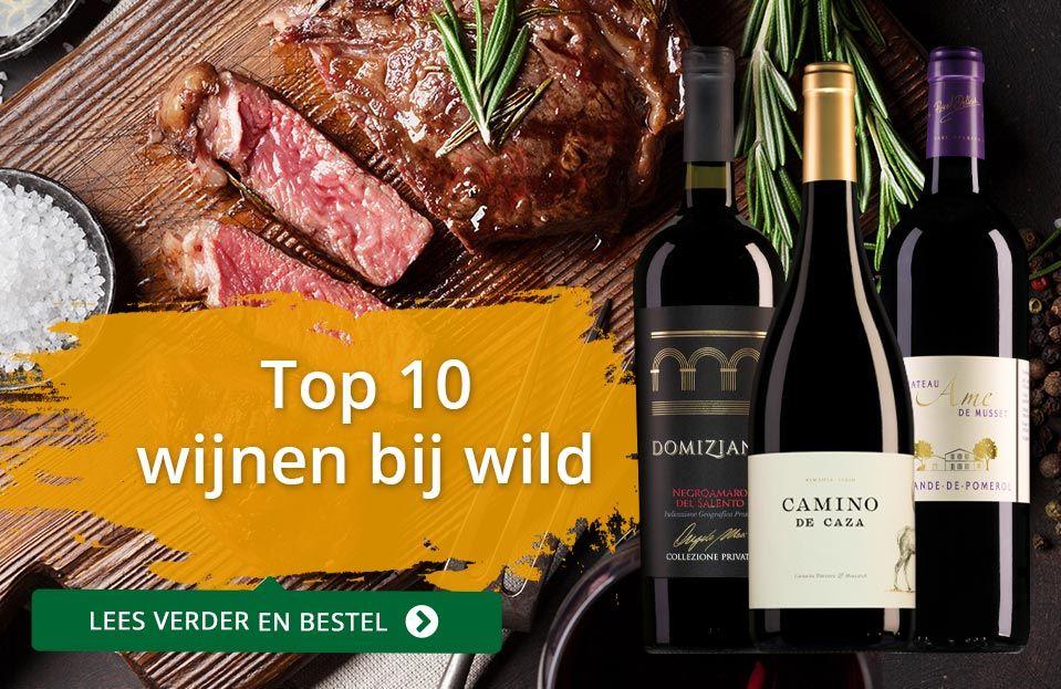 Dia top 10 wijnen bij wild