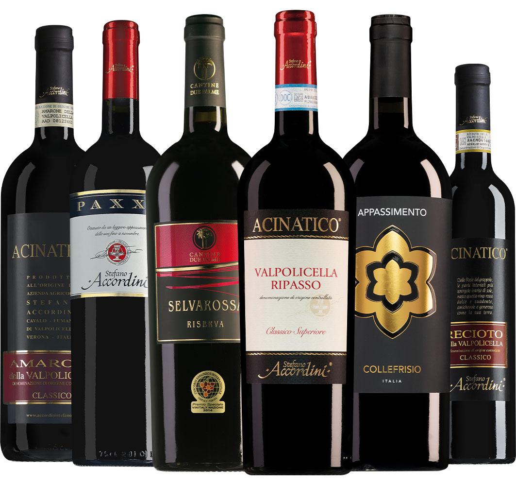 Wijnpakket appassimento-wijnen (6 flessen)
