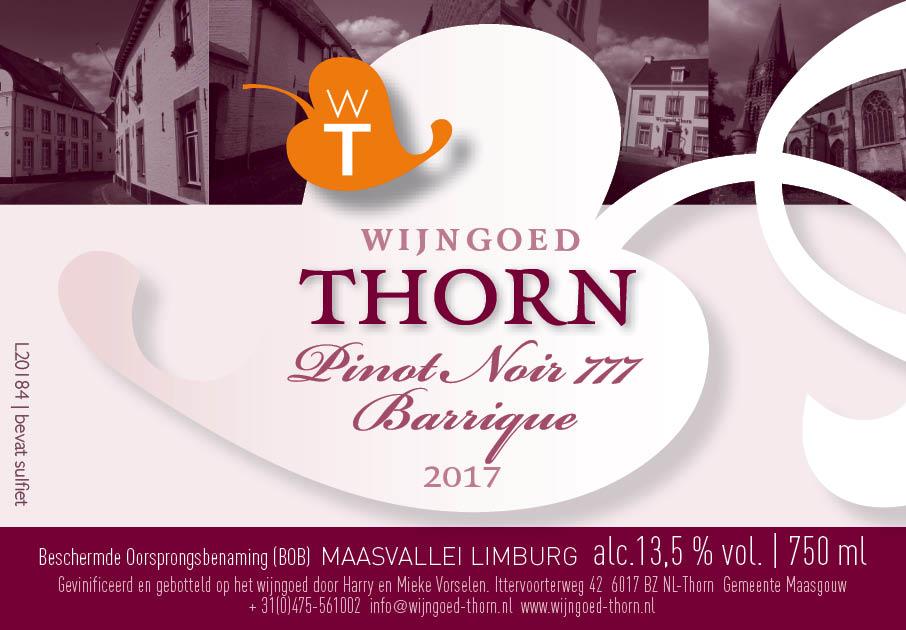 Wijngoed Thorn Pinot Noir 777 Barrique