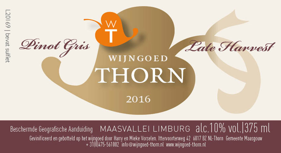 Wijngoed Thorn Late Harvest Pinot Gris
