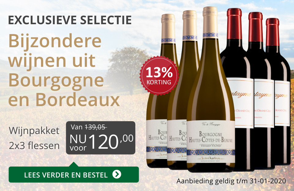 Wijnpakket bijzondere wijnen januari 2020 (120,00) - grijs/goud