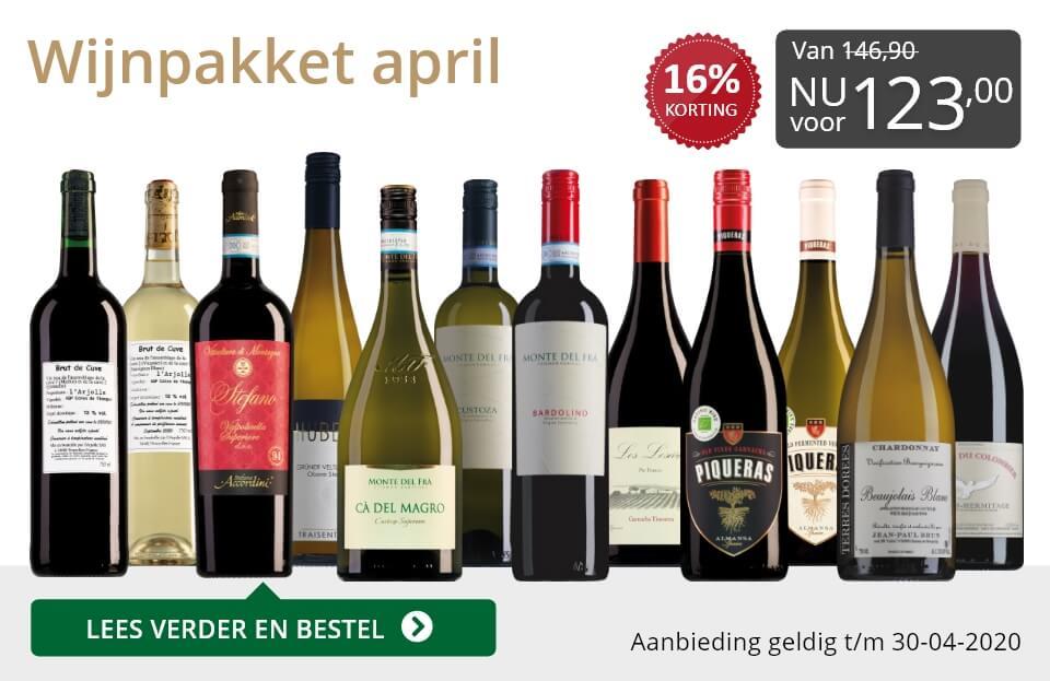 Wijnpakket wijnbericht april 2020(123,00)-grijs/goud