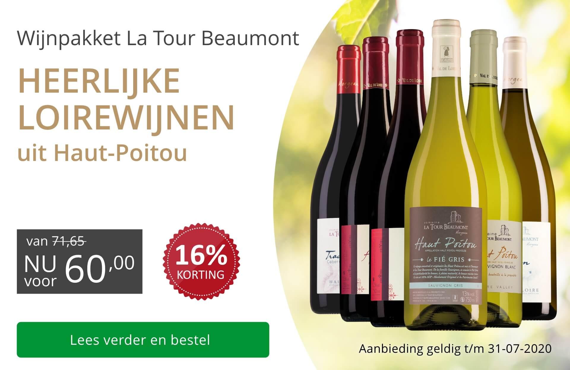Wijnpakket La Tour Beaumont(60,00)-grijs/goud