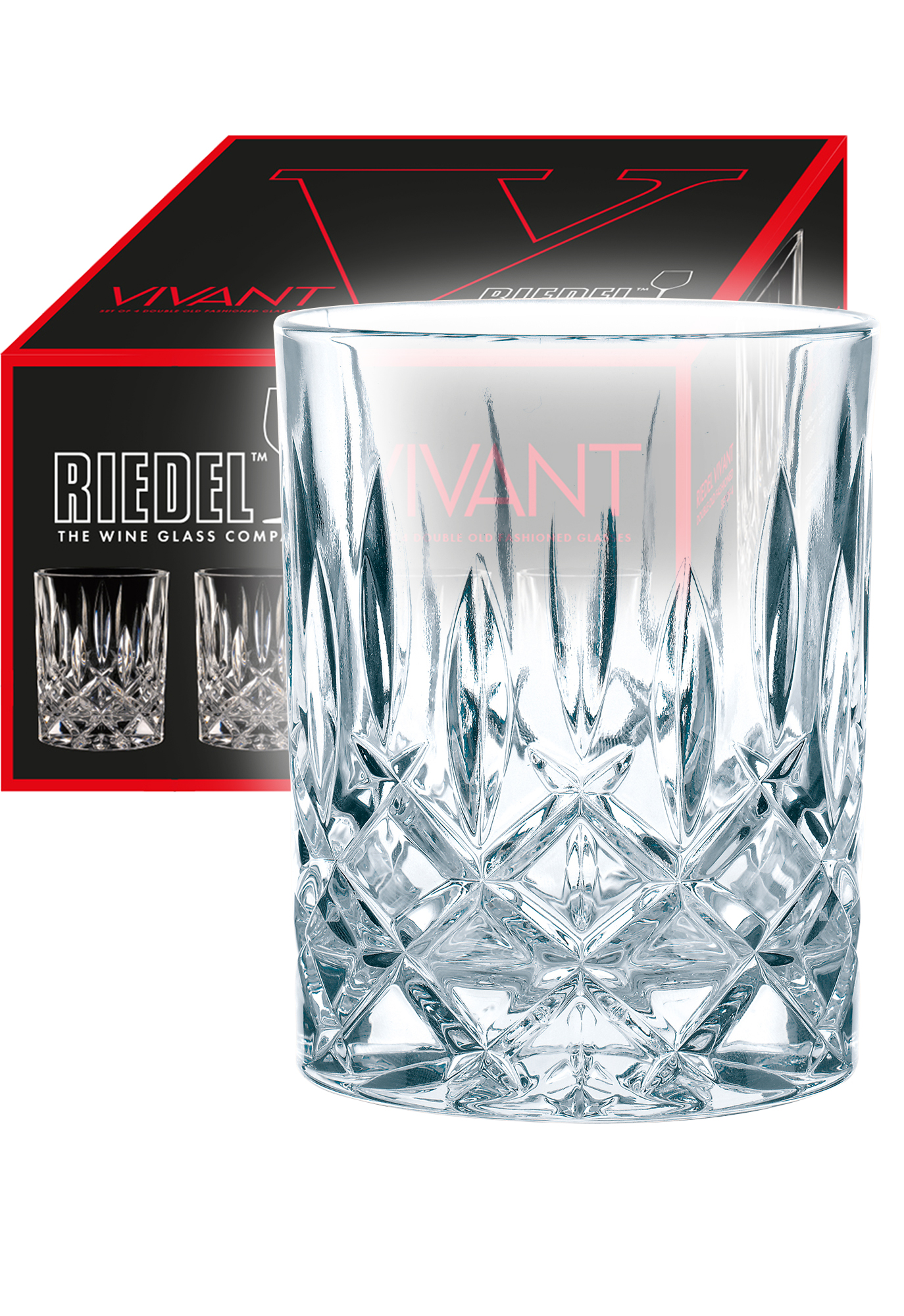 Riedel Vivant Whiskyglas en waterglas (set van 4 voor € 34,80)