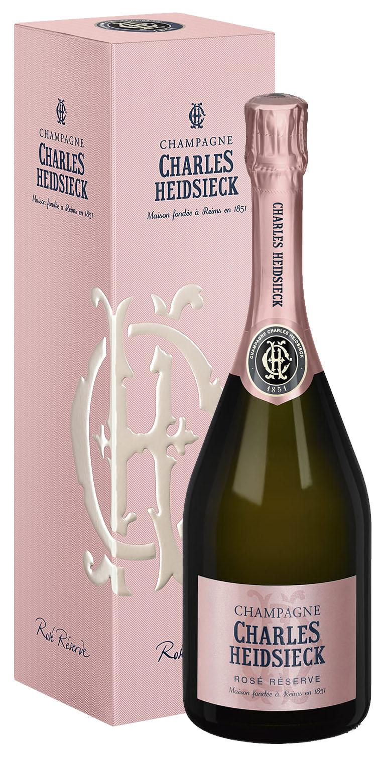 Charles Heidsieck Champagne Rosé Réserve Brut in geschenkdoos
