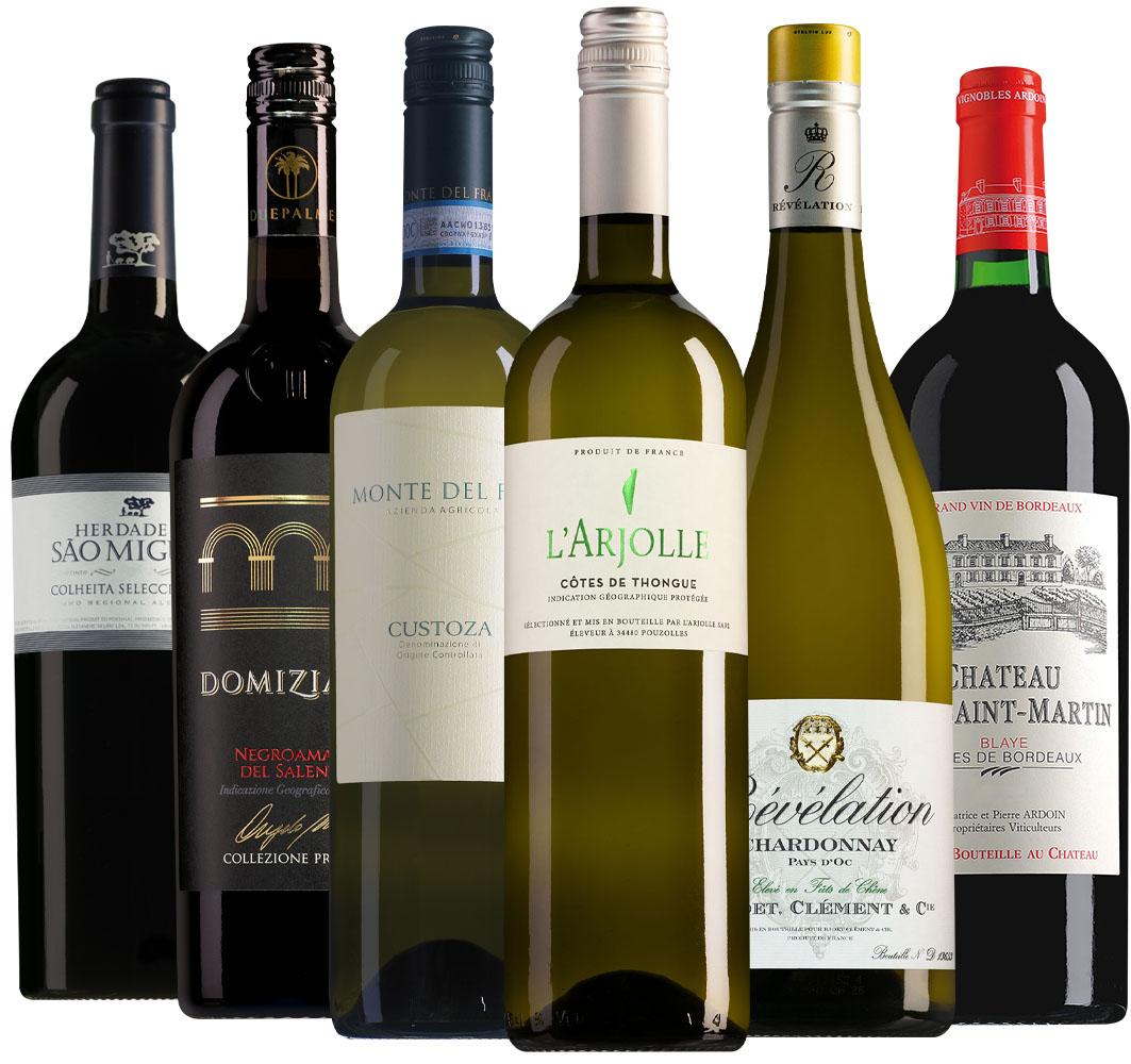 Wijnpakket bestsellers 2020 (6 flessen)